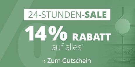 24-Stunden-Sale: 14 % Rabatt auf alles