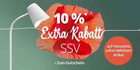 SSV: 10 % Extra-Rabatt auf reduzierte, sofort lieferbare Artikel