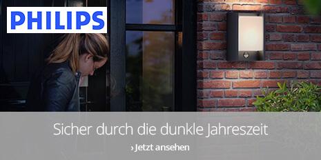 Philips Aussenleuchten: Sicher durch die dunkle Jahreszeit