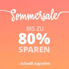 Sommersale: Bis zu 80 % sparen!