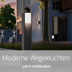 Moderne Wegeleuchten