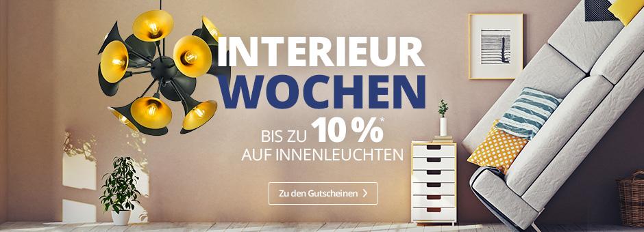 Interieurwochen - Bis zu 10 % Rabatt auf Innenleuchten