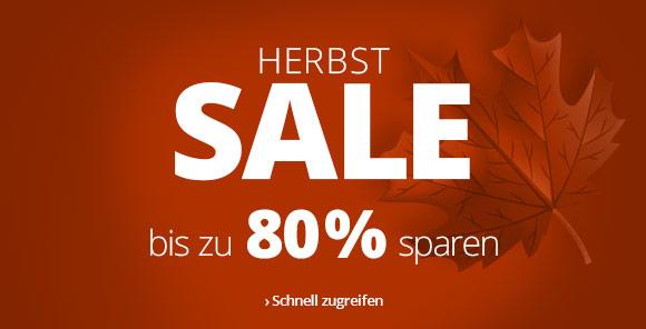Herbstsale: Bis zu 80 % sparen