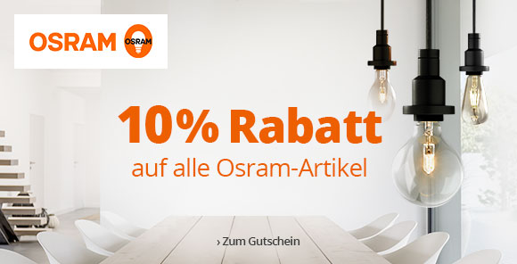 10 % auf Osram-Artikel