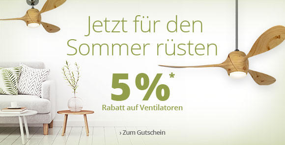 5 % Rabatt auf Ventilatoren