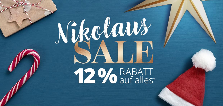 Nikolaus-Sale: 12 % Rabatt auf alles