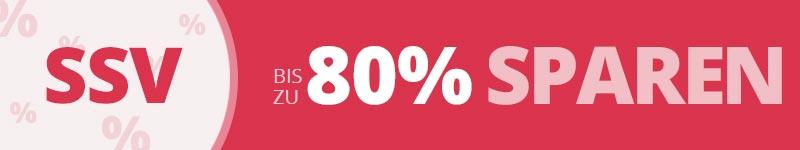 Bis zu 80 % sparen