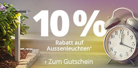 Zeitumstellung: 10 % Rabatt auf Aussenleuchten