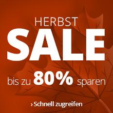 Herbstsale: Bis zu 80 % sparen!