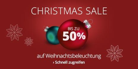 Bis zu 50 % auf Weihnachtsbeleuchtung