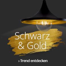Schwarz-Gold Trend