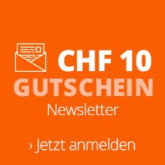 Newsletteranmeldung: CHF 10-Gutschein