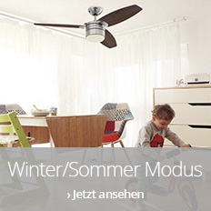 Ventilatoren im Winter-Sommer-Modus