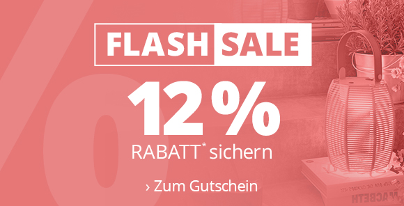 Flashsale - 12 % Rabatt sichern