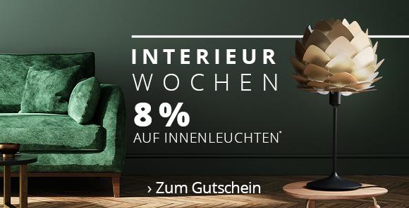 Interieur Wochen bei Lampenwelt.ch - 8 % Rabatt auf Innenleuchten