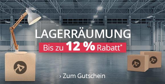 Lagerräumung - Bis zu 12% Rabatt*