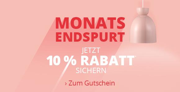 Monatsendspurt - 10 % Rabatt sichern