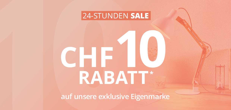 24-Stunden-Sale: CHF 10 Rabatt