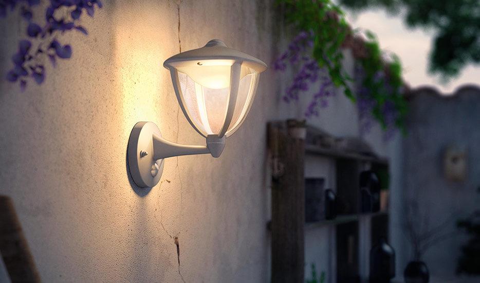 Philips Robin LED-Sensor-Außenwandlampe weiß (7531615)