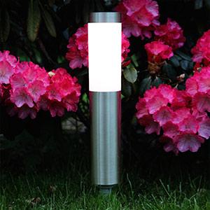 Zylindrisch geformte LED-Erdspiesslampe Freya
