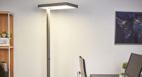 Büro-LED-Stehleuchte Nora, Bewegungsmelder 50W