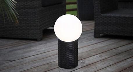 LED-Solar-Kugel Lug mit Sockel, Ø 15 cm