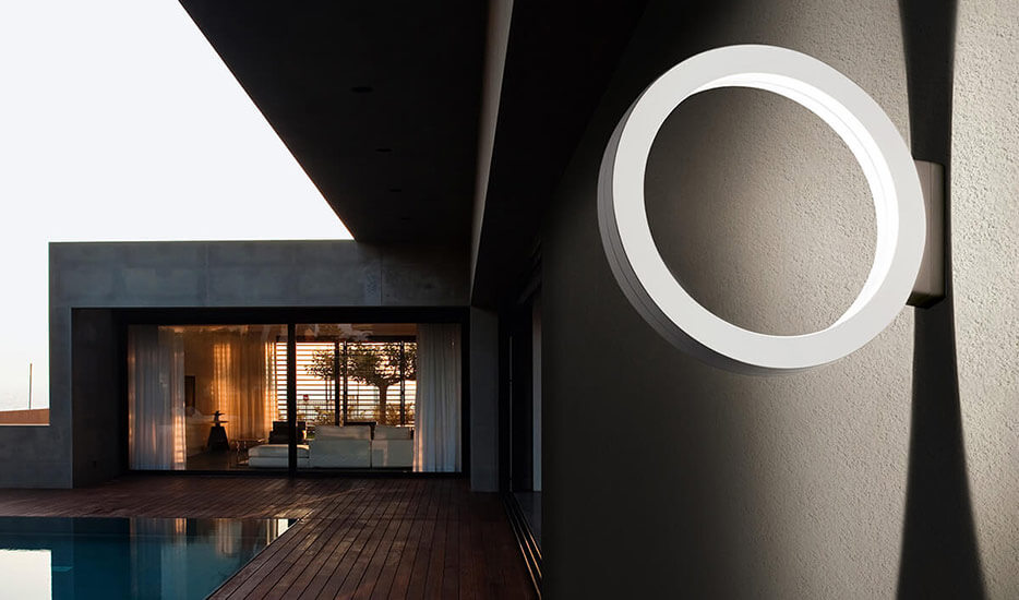Cini&Nils Assolo - weisse LED-Aussenwandleuchte