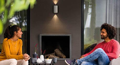 Philips Buxus - LED-Aussenwandlampe aus Edelstahl