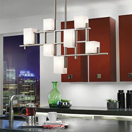 Modern gestaltete Hängeleuchte City Lights