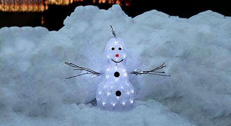 Kleine LED-Figur Crystal Snowman f. aussen