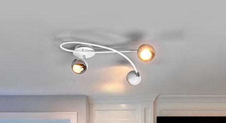 Formschöne LED-Deckenleuchte Arvin in Weiss