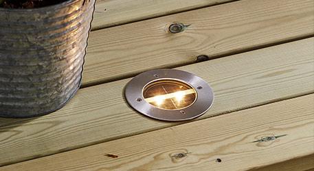 Runde LED-Solar-Einbauleuchte Decklight