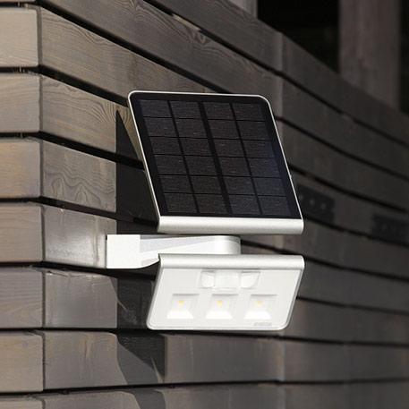 STEINEL XSolar L-S Solar-LED-Aussenwandlampe silber
