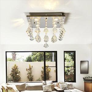 Funkelnde LED-Deckenlampe Fanni
