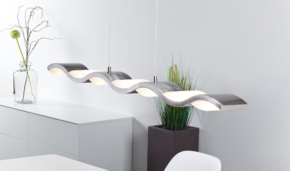 Liquid - LED-Hängeleuchte in Wellenform, dimmbar
