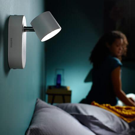 Philips Star schwenkbarer LED-Strahler weiss 1flg.