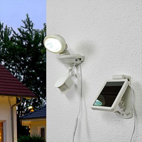 Solar-LED-Strahler SOL 14 IP44 weiss