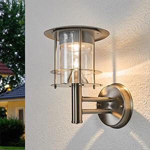 Moderne LED-Solar-Wandleuchte Brush mit Sensor