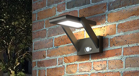 Solarbetriebene LED-Aussenwandlampe Valerian
