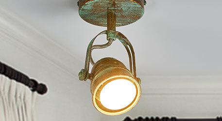 Leonor - LED-Spot in Grünspanoptik