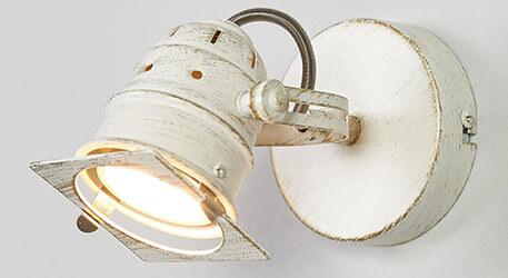 Weisser LED-Spot Janek mit GU10-Lampe
