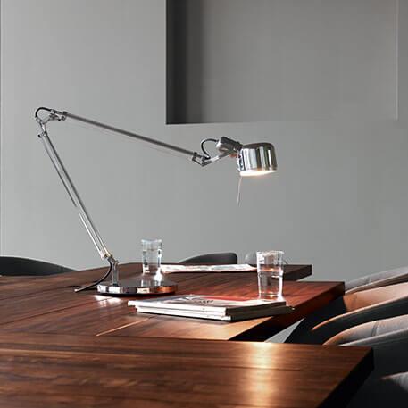 Edelstahl-Schreibtischlampe