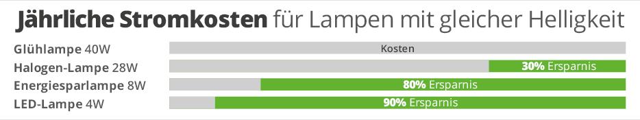 Wie viel Kosten sparen LEDs wirklich?