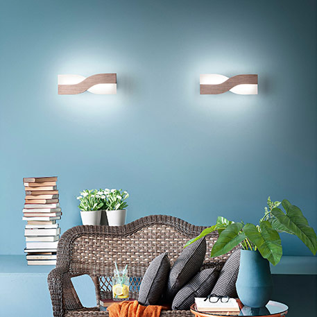 LED-Wandlampe Riace 50 cm bronze