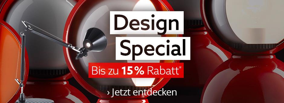Design Special - bis zu 15% Rabatt