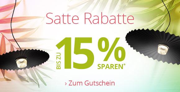 Satte Rabatte - Bis zu 15% Rabatt* sichern