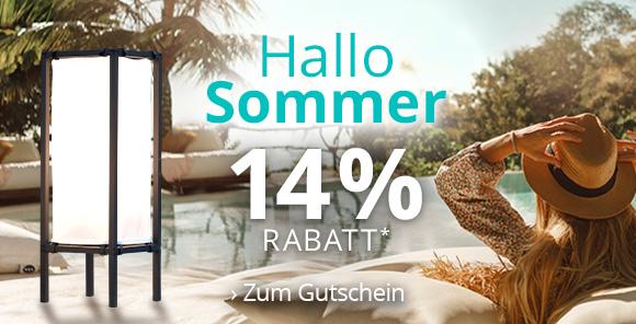 Hallo Sommer - Jetzt 14 % Rabatt* sichern