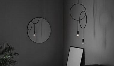 Extravagante Designer-Hängeleuchte Circle