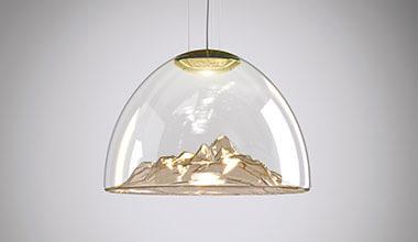 LED-Designer-Hängeleuchte Mountain View