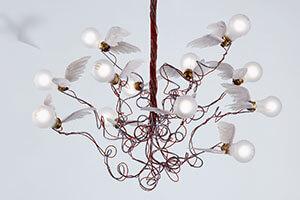 Birdie - Hängeleuchte mit beflügelten Lampen